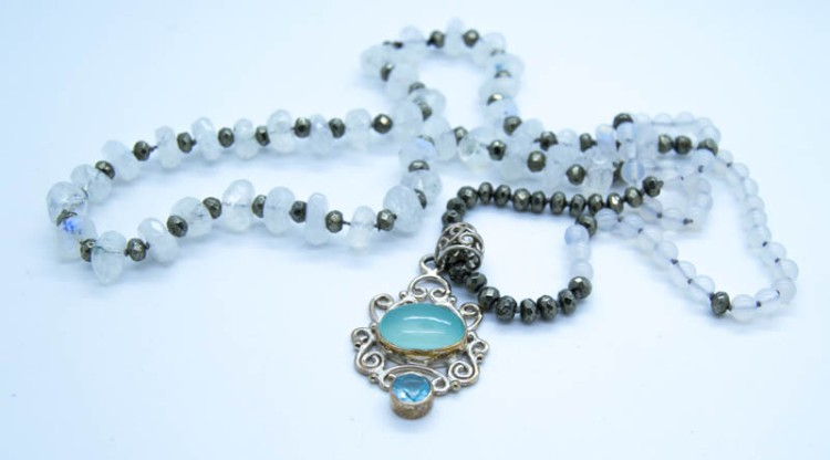 Handmade Moonstone Goddess Necklace
