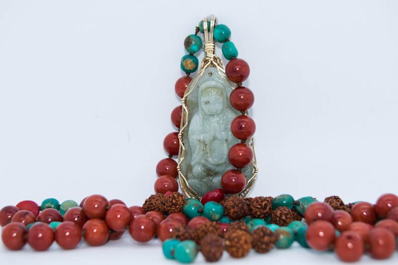 Handmade Jade Buddha Mala