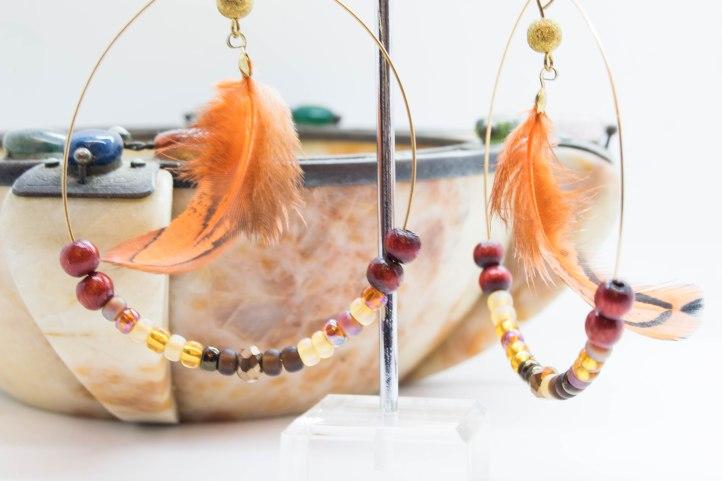 Boho Cherokee Feather Earrings