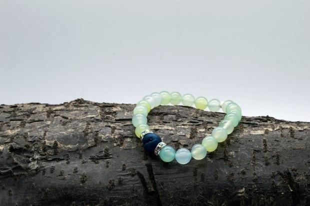 Spring Green Agate Bracelet 'Shanti Range' – Solar Plexus & Heart Chakras