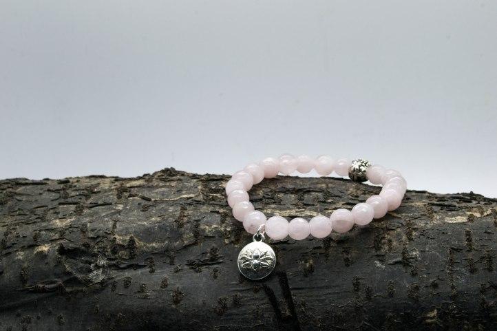 Rose Quartz Lotus Bracelet  'Shanti Range' – Heart Chakra