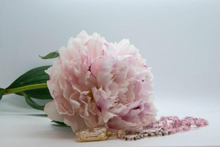 Danburite & Rose Quartz Pretty In Pink Necklace ~ Commission Piece