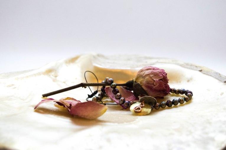 Freshwater Pearl & Hematite Symbolic Charm Anklet , Custom Order