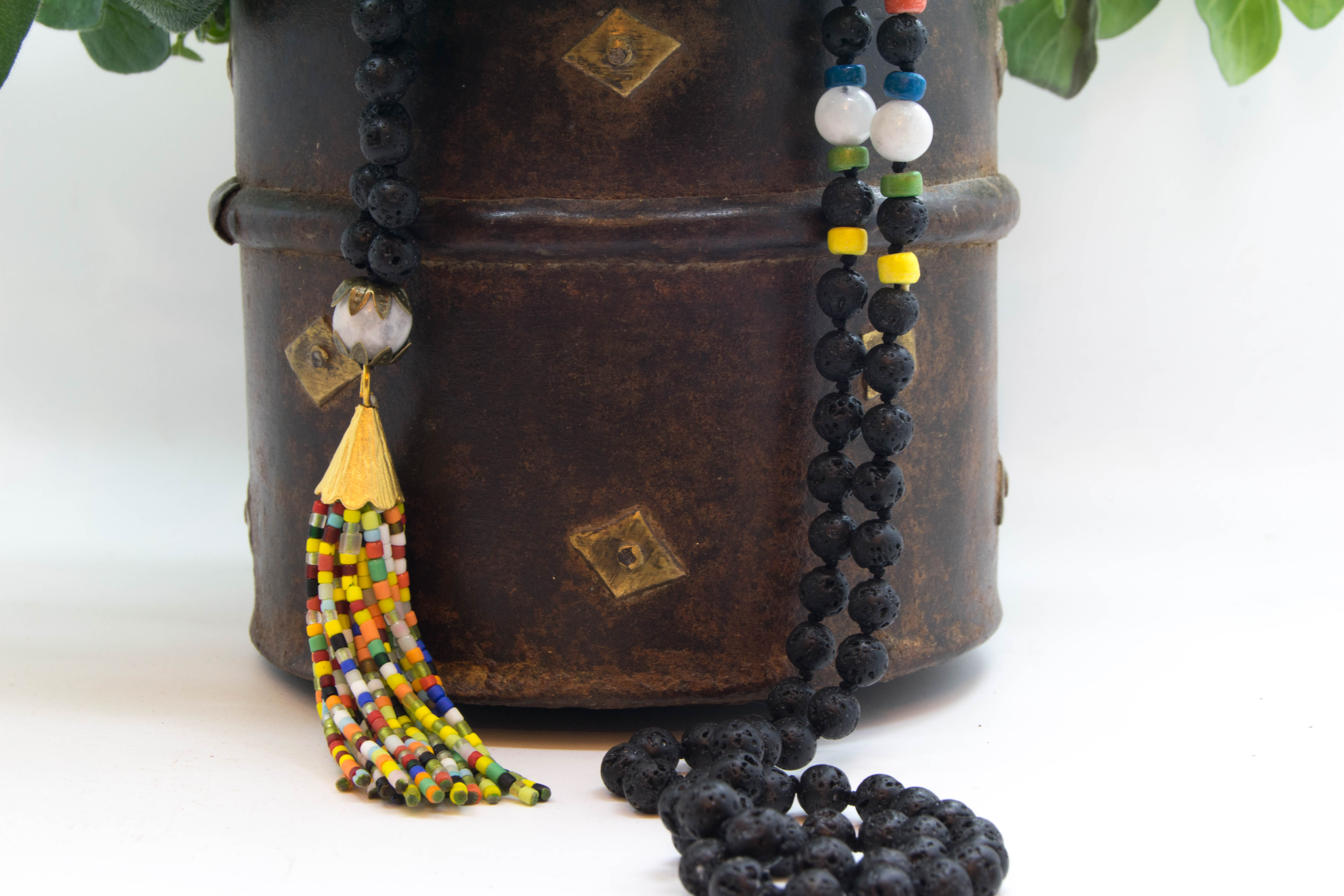 Marley Mala Born Of The Strawberry Full Moon, Moonstone & Lava Rock