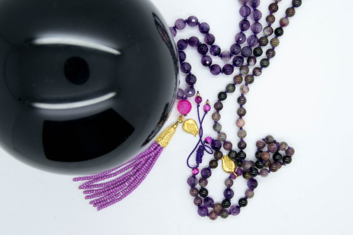 Pretty In Pink Mala Blessed Under The Sturgeon FullMoon