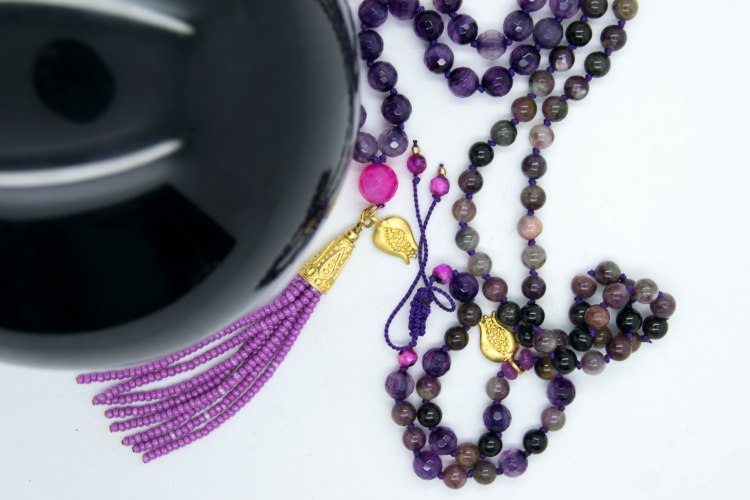 vPretty In Pink Mala Blessed Under The Sturgeon Full Moon