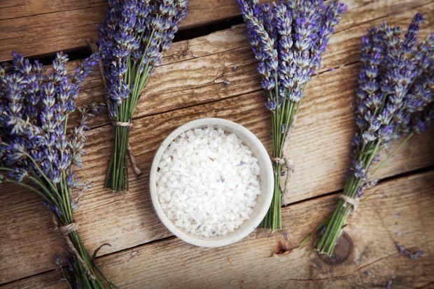 Bath salts and lavender