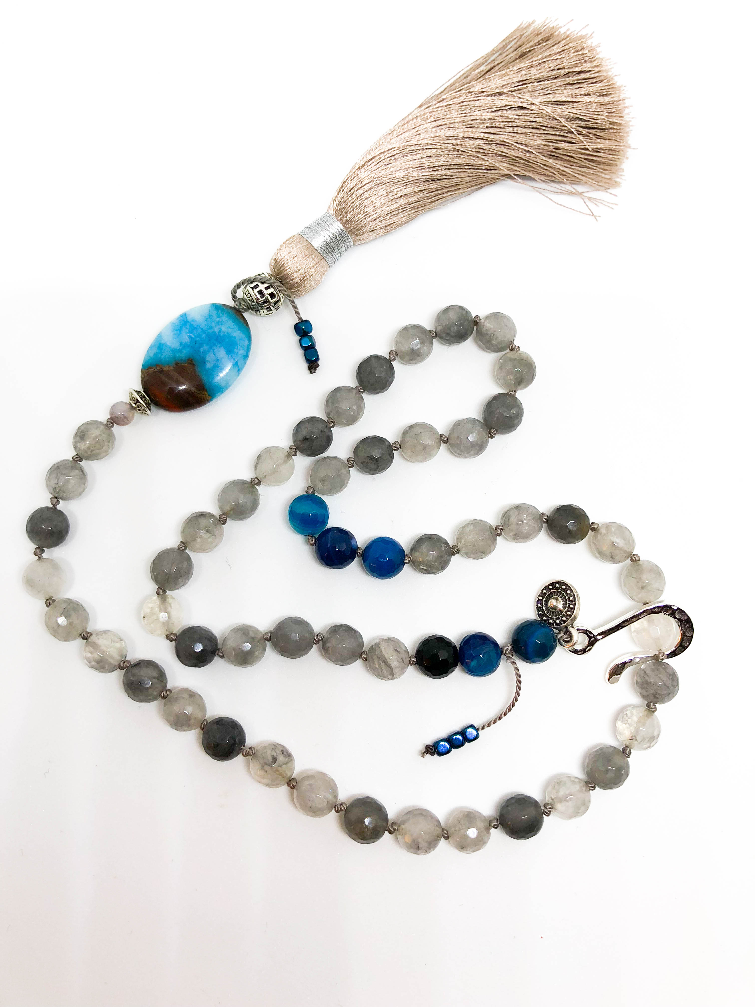 Wolf Moon meets Blue Moon Mala ~ For Sale