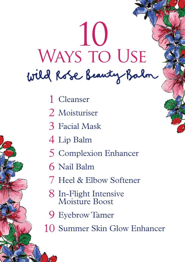 10 ways to use the wild rose beauty balm