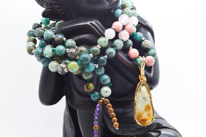 Buddha Rustica Heartfelt Mala – Custom Piece