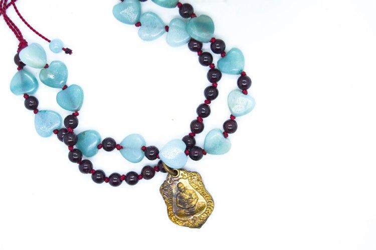 Bespoke Buddha Red Silk Bracelet