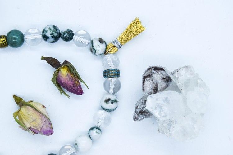 Bespoke Buddha, Tree Agate Bracelet