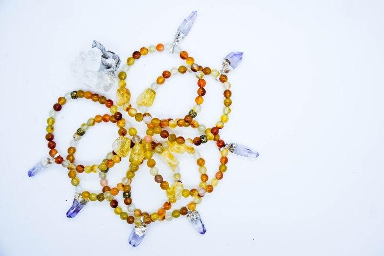 Vera Cruz & Citrine High Vibrational Bracelets